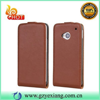 High Quality Up And Down Flip Leather Case For HTC One M7 802W