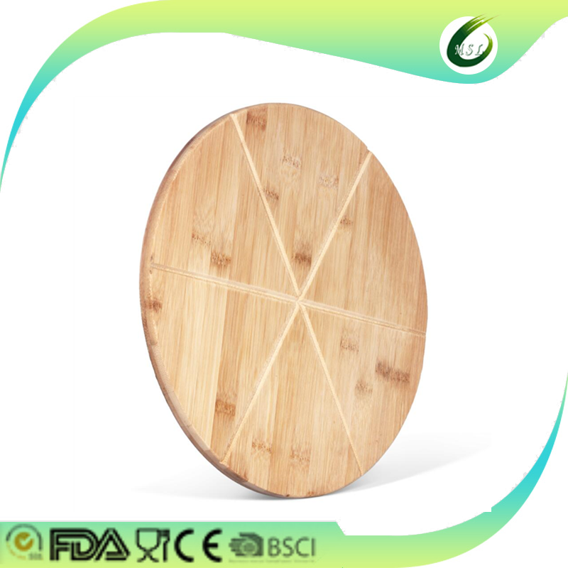 round thin pizza cutting board bamboo wood chopping board