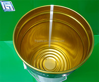 25L tightness metal pail/bucket/drum for good storage,with flower edge/lock ring lid
