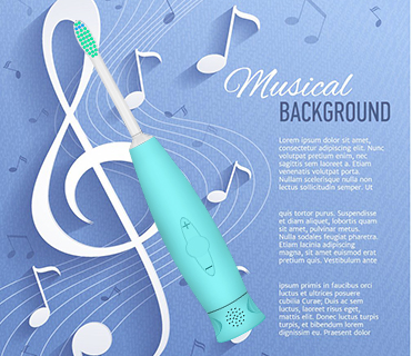 2017 hot selling silicone music sonic electric toothbrush for kids