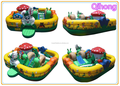 Cheap inflatable indoor amusement park for kids, inflatable mini amusement park ride