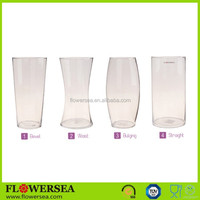 FLOWERSEA Wholesale cheap tall decoration clear glass flower vase