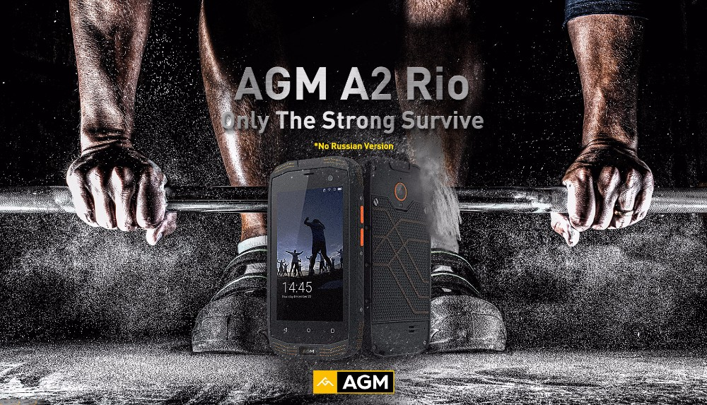 Original AGM A2 4.0inch 4G LTE IP68 Waterproof Mobile Phone Android 5.1 Qualcomm MSM8909 Quad Core 2G+16G NFC cheap Smartphone
