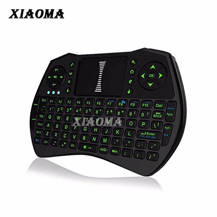 Wholesale I9 2.4GHz Mini Wireless Keyboard with Touch Pad Mouse Black KODI XBMC Android Box HTPC IPTV Remote Control