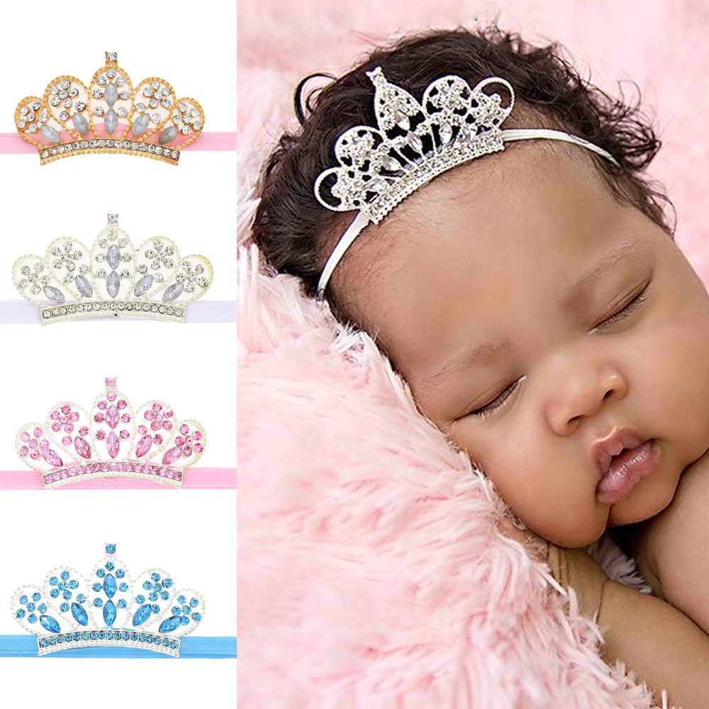 HIgh Quality Top Design Girls Head Accessories Baby Princess Queen Headbands Hair Band For kids Elastic Flower Crown Hairband