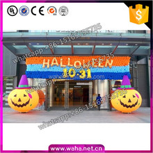 2016 Popular Halloween Event Decoration 3M Inflatable Pumpkin With LED light W10643