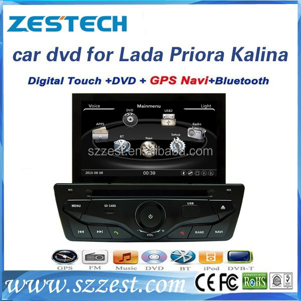 Zestech Touch Screen Car DVD Gps Navigation for Lada Priora Kalina with Radio Multimedia Gps Navigation System