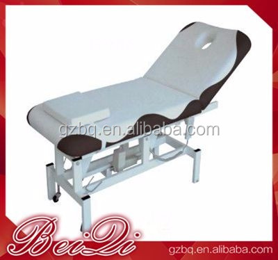 Guangzhou Wholesale White Massage Bed Adjustable Electric Massage Bed Used Spa Equipment Cheap