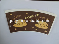 new design PE coated paper cup fan/paper cup paper