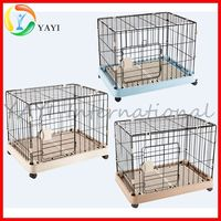 Folding Large Metal Stainless Steel Dog Kennels Cages