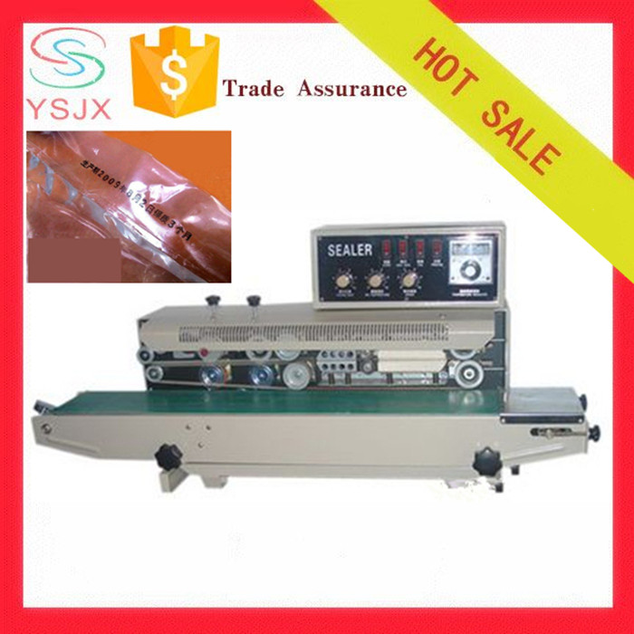 Horizontal solid ink roll coding low price continuous band sealing machine