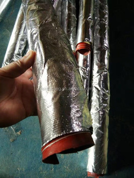 300 DEG.C Silico Duct covered with Aluminum foil and glass wool.
