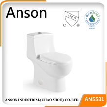 Hot sale cUPC toilet, Watersense for U.S.A, Canada, lowest price high efficiency toilet 4.8L 1.28gallons 3 inch flush