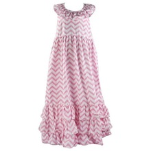 Wholesale Boutique Cheap Fashion Kids Party Wear Girls Maxi Dress Teen Girls Chevron Easter Dresses