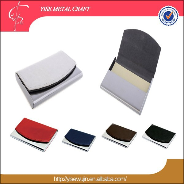 Promotion Leather Business Card Holder/High Quality PU Business NameCard Case