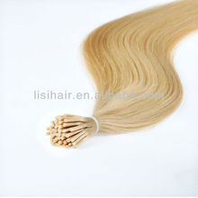 24 inch top quality prebonded human hair keratin fusion tip 100% remy human hair extension