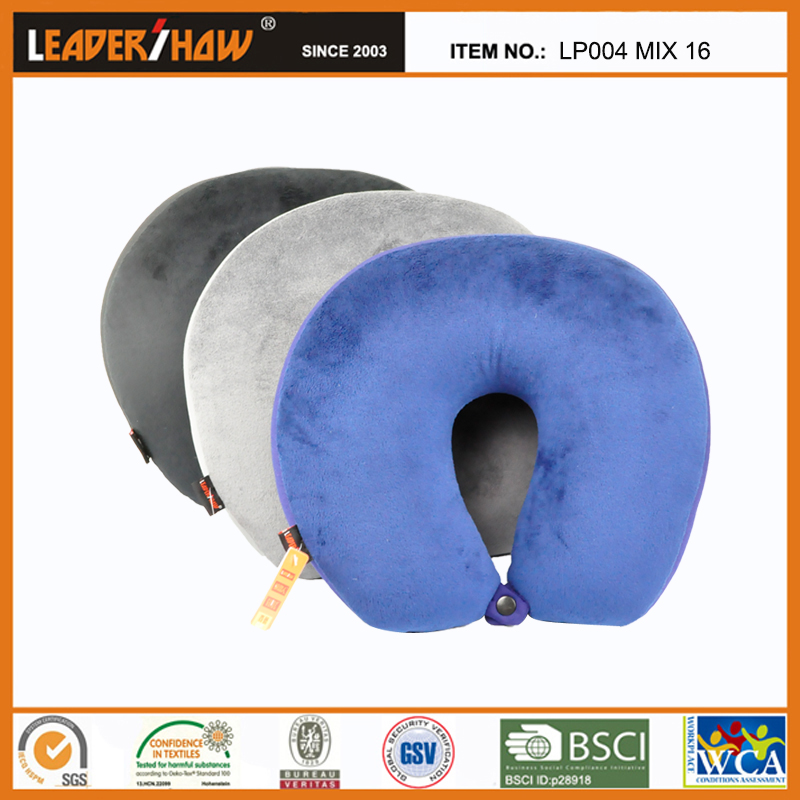 High Quality Travel Rest Neck Pillow Filled With Polystyrene Beads