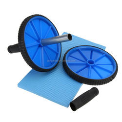 Wholesale Fitness Ab Roller abdominal muscle roller and fitness equipment home sports AB roller exercise with double wheel