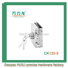high quality stainless steel glass door locks, dorma glass door hook lock for sliding door CK120-5