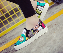 The new style summer Korean fashion cartoon classic skid canvas casual shoes