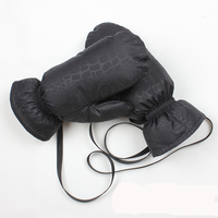 Custom waterproof down padding thin sports mitten gloves for adults
