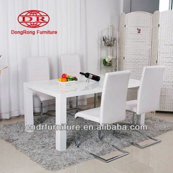 white high gloss dining set