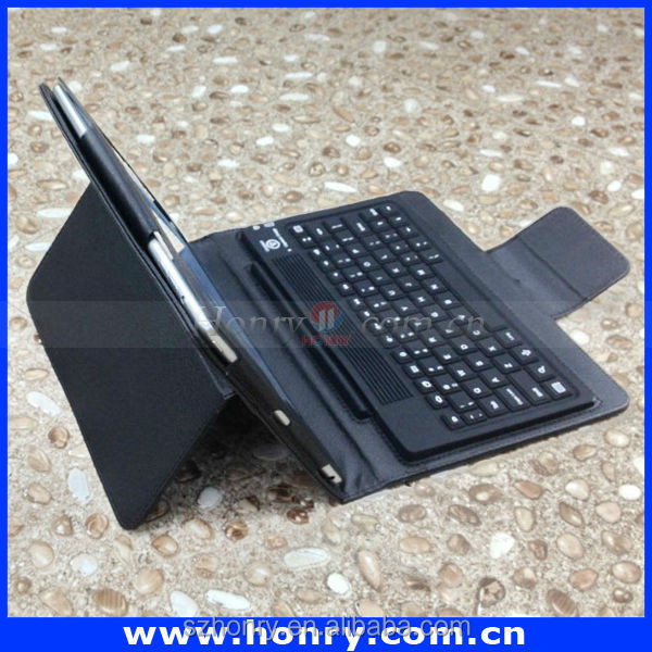For ipad Bluetooth keyboard with leather case
