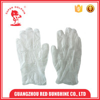 Disposable clear white vinyl examination gloves with powder free
