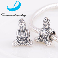Chiese Traditional Silver Buddha Religion Charm 925 Sterling Silver Jewelry Charm For Charm Bracelet