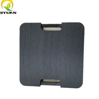 logo customized plastic outrigger pads or crane jack support mats with handle