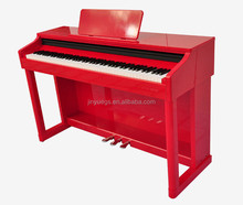 red color digital upright piano 88 key hammer action