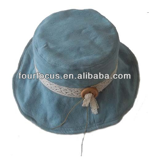 adult casual plain cotton twill bucket hat