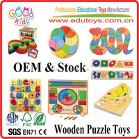 Wholesale /OEM Plywood Toddler Enlighten Wooden Puzzle Toys