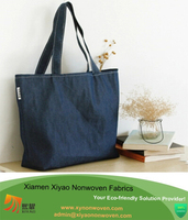 Women Shoulder Shopping Bag OEM Denim standard size cotton tote bag