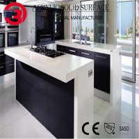 1200# polished korean solid surface custom made kitchen counter top