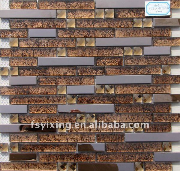 Diamonds In Sahara Desert metal mixed glass mosaic for wall and floor