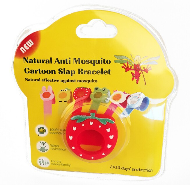 insect & mosquito repellent bracelet with citronella refills