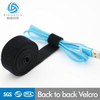Self-adhesive Hook & Loop Tape/One-wrap back to back Hook & Loop Tape Velcro back to back ( injection hook + flannel )