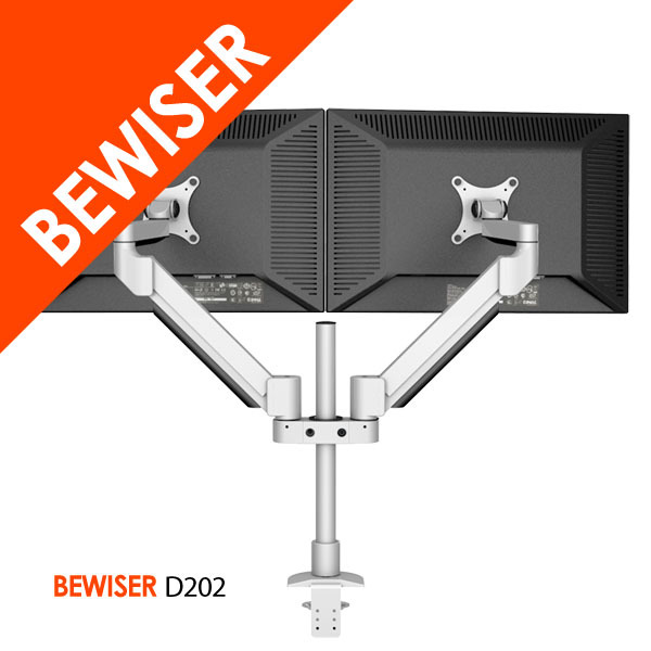 Wholesale Aluminum Full Motion Dual LCD Monitor Arm / Mount Desk Clamp (Bewiser D202)