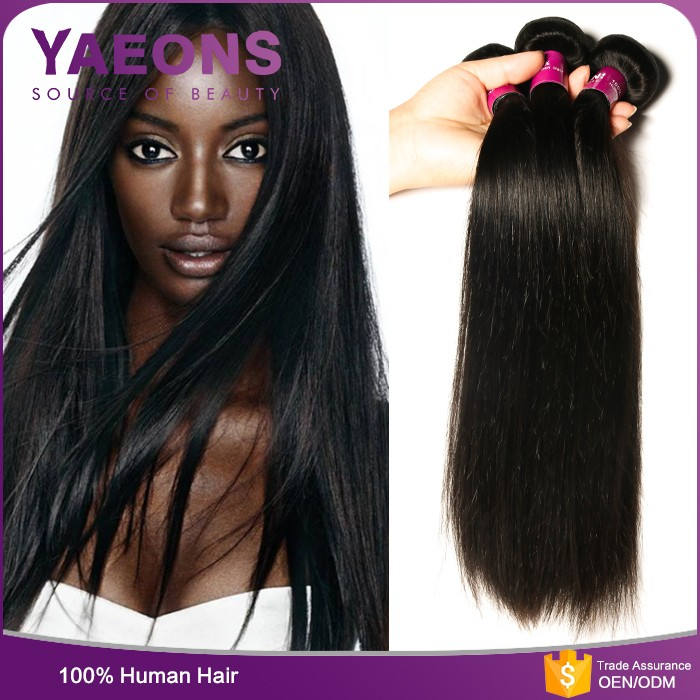 Top grade 100% unprocessed virgin remy brazilian straight human hair weave