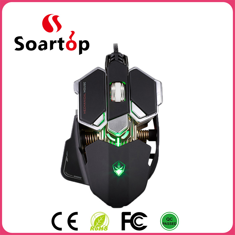 2017 FCC/ROHS/CE/PICC 10D high DPI adjustable computer gaming mouse