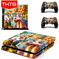 For Sony ps4 Stickers Cover Skin Decal Wrap Romantic Oil Painting