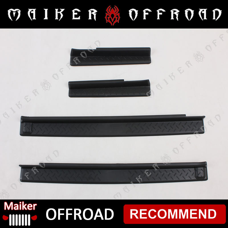 ABS plastic Door sill scuff plate for Jeep Wrangler JK Auto accessories exterior parts