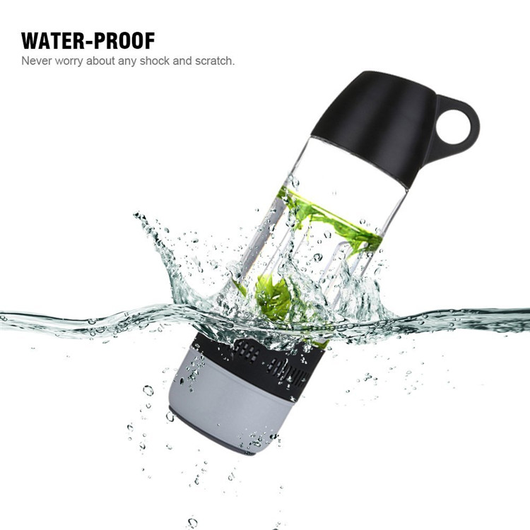 IPX4 Design Water Bottle Mini Bluetooth Speaker Portable Cups Compass Wireless Speaker Outdoor Sound Stereo Music Player