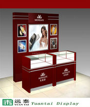 wood wall watch display case/showcase/stand/cabinet for retail store
