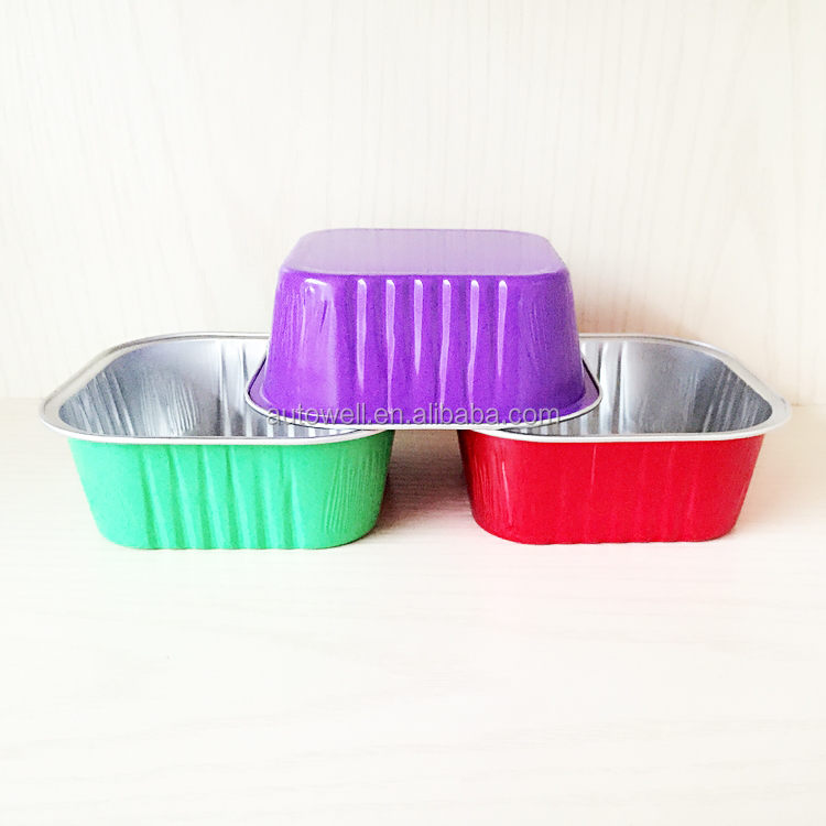 Red Square 300ML Aluminium Foil Fast Food Food Containers