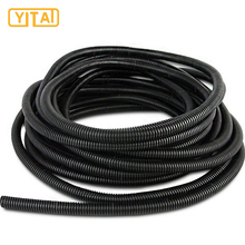 PVC Gray / Black / White Flexible Corrugated Conduit Pipe For Electric Cables Protection