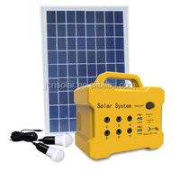 Factory Best Price 12v 12Ah Deep Cycle Solar Energy Storage Battery With FM Radio & 2 Led Bulbs