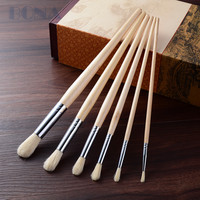 Bona Craft 6 pcs Bristle Horse Hair Artist Paint Brush Pen Pinceles Arte