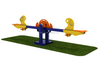 Animal PE Board Fish Children Seesaw with Galvanized Steel Pipe--Horse